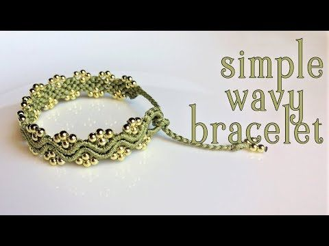 Macrame tutorial: The simple wavy bracelet - Fast and easy handmade making - YouTube