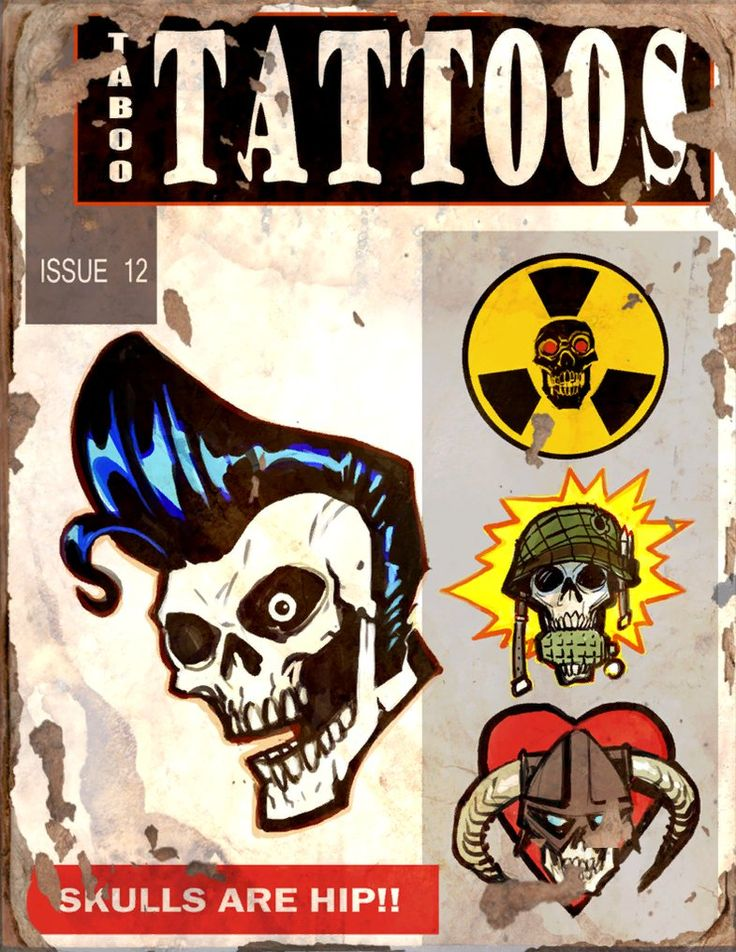 Taboo Tattoos #12 Book - Fallout 4 by PlanK-69 (I see a Skyrim reference in the bottom right corner!)