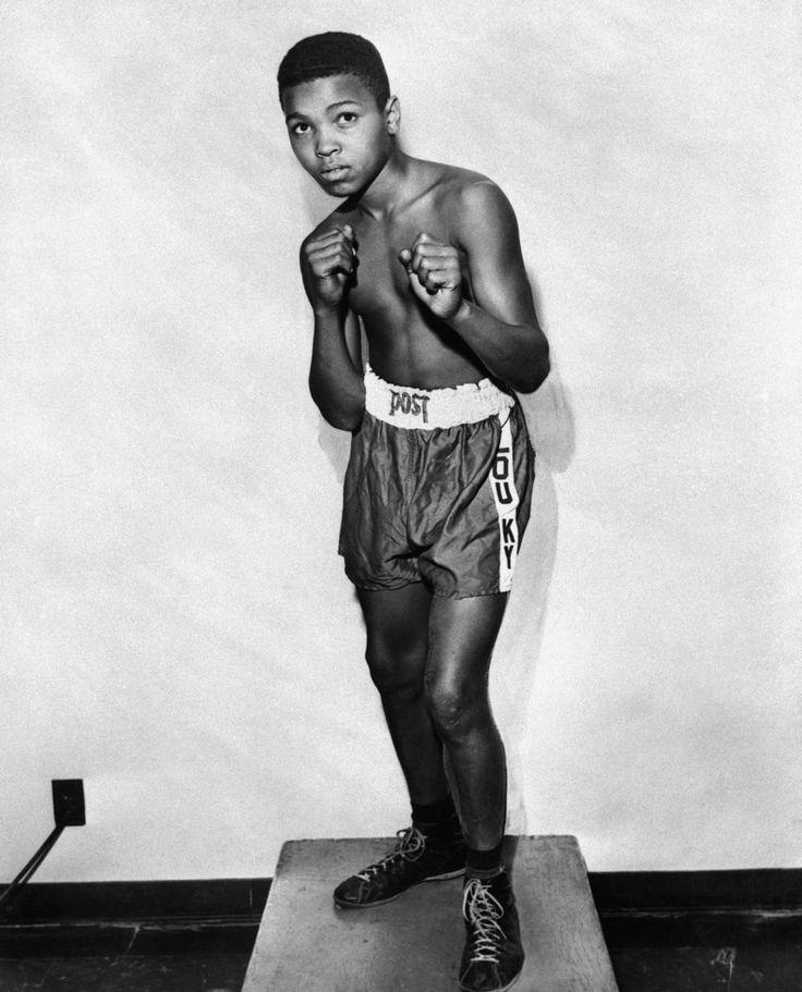 Мохаммед Али перед своим первым боем в 12-тилетнем возрасте