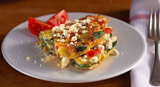 Download a Free Greek e-cookbook: Myrecipes Com, Kraft Recipes, Red Onions, Feta Recipes, Greek Recipes, Greek Omelets, Recipe Image, Breakfast Brunch, Healthy Living