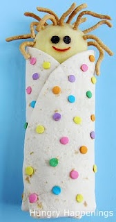 Sleeping Bag Wraps~kids will go nuts over these healthy Slumber Party Snacks / Hungry Happenings