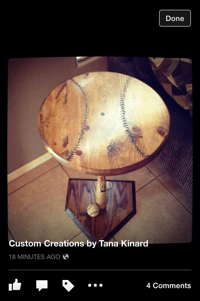 Custom vintage baseball table...