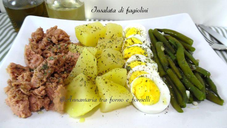 Insalata di fagiolini è un piatto semplice economico,da preparare anche in anticipo Piatto unico che si può consumare freddo.