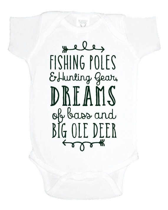 Hunting And Fishing Baby One Piece Shower Gift Southern Boy Bodysuit Under 20 Toddler Shirt Poles Gear