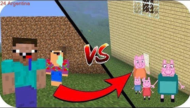 CASA NOOB VS CASA PEPPA PIG MINECRAFT TROLL + ROLEPLAY
