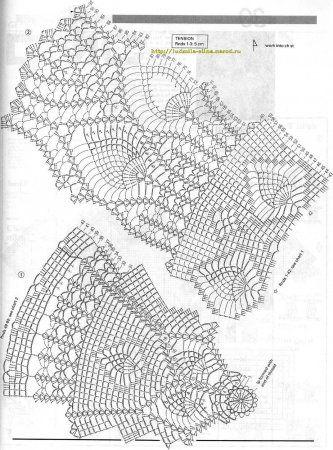 Вязание скатерти крючком: схемы