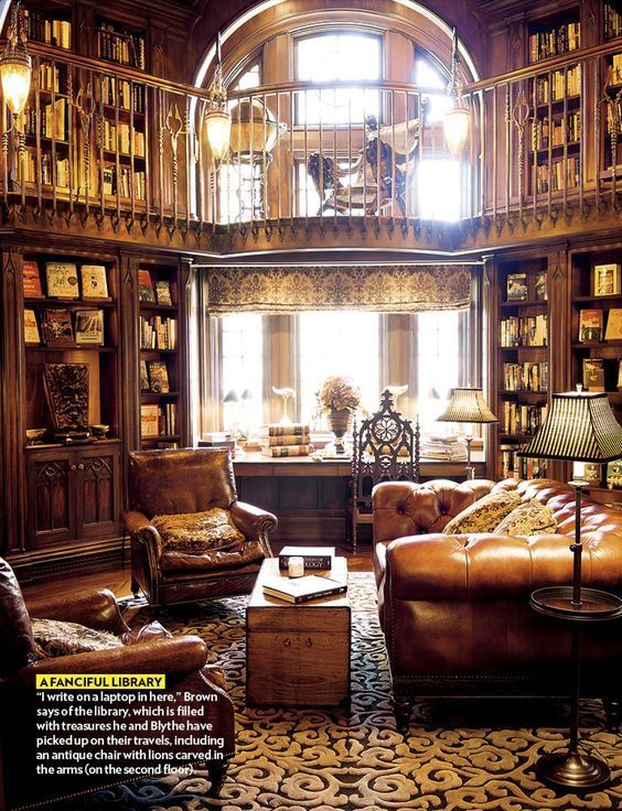 Dream libraries full of vintage elegance and decoration inspiration.