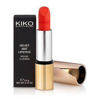KIKO MAKE UP MILANO - Velvet Mat Satin Lipstick - Samtig mattierter Lippenstift  #608 Apple Red