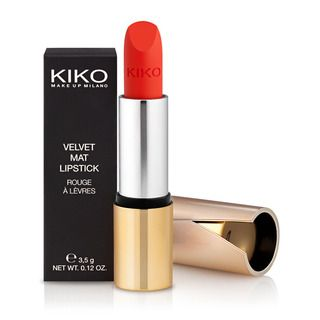 KIKO MAKE UP MILANO - Velvet Mat Satin Lipstick - Samtig mattierter Lippenstift  #608 Apple Red