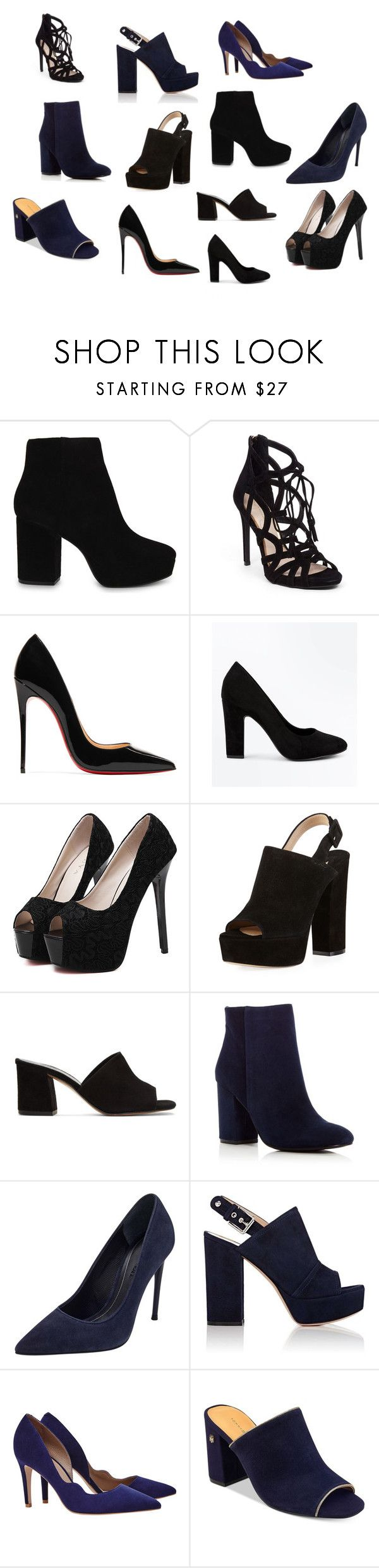 """""""zapatos pau"""" by modo-om on Polyvore featuring moda, ALDO, Jessica Simpson, Christian Louboutin, New Look, WithChic, Paul Andrew, Maryam Nassir Zadeh, Kenneth Cole y Kendall + Kylie"""