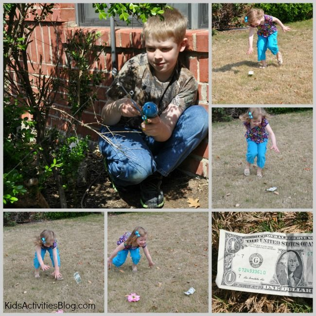 Can you catch a dollar?  Try this easy April Fools prank for kids