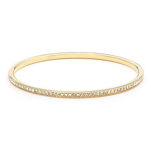 Magic Bangle with Swarovski® Crystals Gold Plated