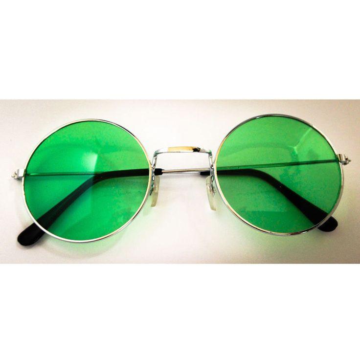 John Lennon Hippie Brille Sonnenbrille Flower Power Herren Damen 60er 70er Peace - grün in Feierlichkeiten / Anlässe   • Karneval Fasching Party • Brillen