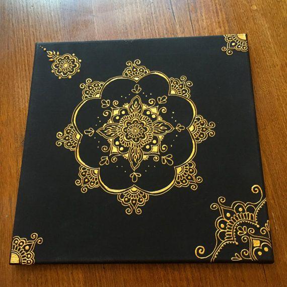 Black and gold mandala by Hennamama on Etsy
