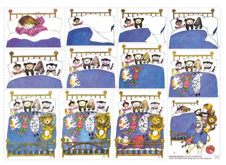 Härlig upprepningsaga om Lisen som inte kan sova utan sina gosedjur. Tips! Denna saga är också perfekt som mattesaga då ni kan räkna Lisens gosedjur i sängen. Till flanobilderna medföljer sagotext. © Per Beckman Återförsäljare: Lekolar