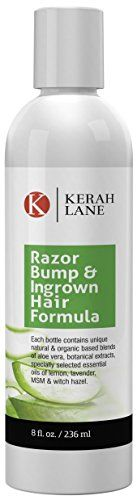 Kerah Lane Organic Razor Bump  Ingrown Hair Formula for Women  Men Best Treatment Serum for Ingrown Hairs Acne Razor Bumps Razor Burn Use After Shaving Waxing Electrolysis  Hair Removal 8oz *** Continue to the product at the image link.