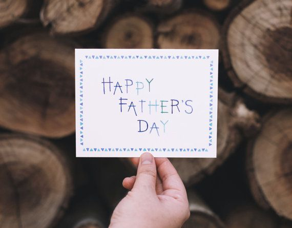 Happy Father's Day Watercolor Greeting Card by Lacelit / Kimberly Taylor Pestell | www.lacelit.com