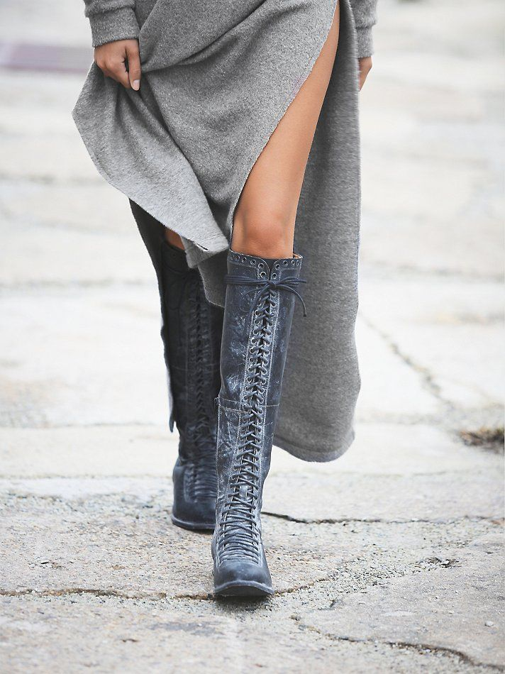 Free People Caspian Tall Lace Up Boot, $248.00