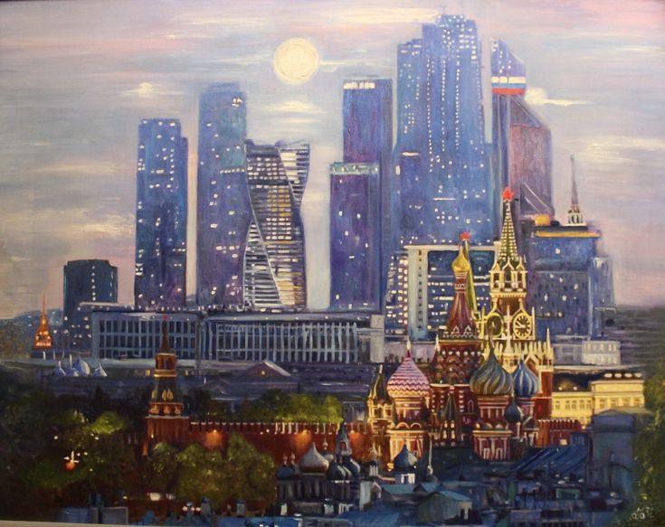 Инесса Мел | Холст, масло, 90 х 60 см, +багет | Городской пейзаж, реализм