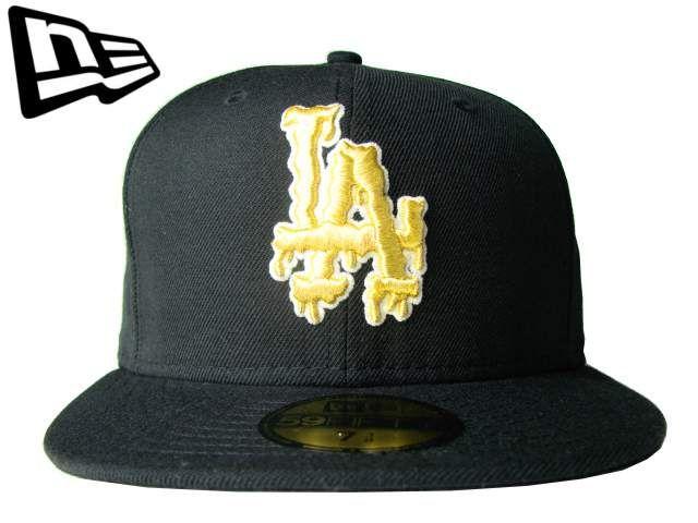 """【ニューエラ】【NEW ERA】59FIFTY LOS ANGELES DODGERS """"GLOW"""" LA ブラック/ゴールド【グロー】【西海岸】【ドジャース】【MLB】【メジャーリーグ】【ロサンゼルス】【黒】【金】【BLACK】【GOLD】【newera】【キャップ】【帽子】【楽天市場】"""