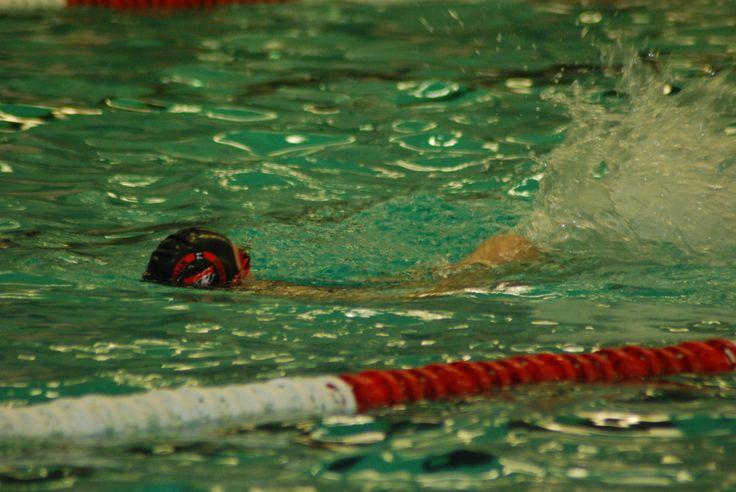dit ben ik tijdens de zwemclinic