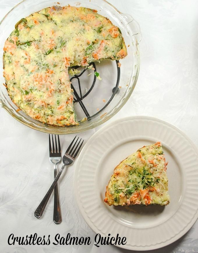 Healthy Salmon Crustless Quiche with Spinach and Sharp Cheddar Cheese http://motherrimmy.com/healthy-salmon-crustless-quiche-with-spinach-and-sharp-cheddar-cheese/
