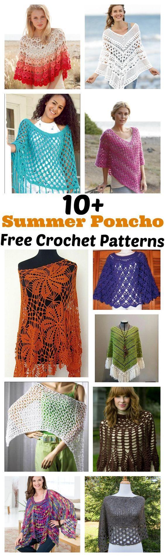 10 + Poncho de Verão grátis Crochet Patterns