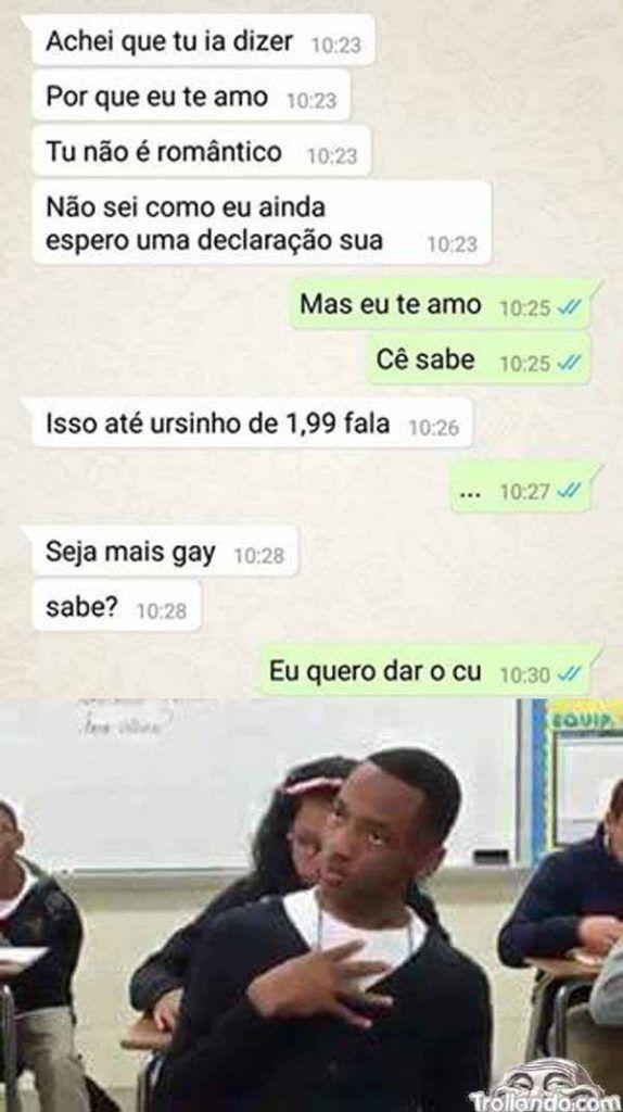 Seja mais gay... Kkkkkk