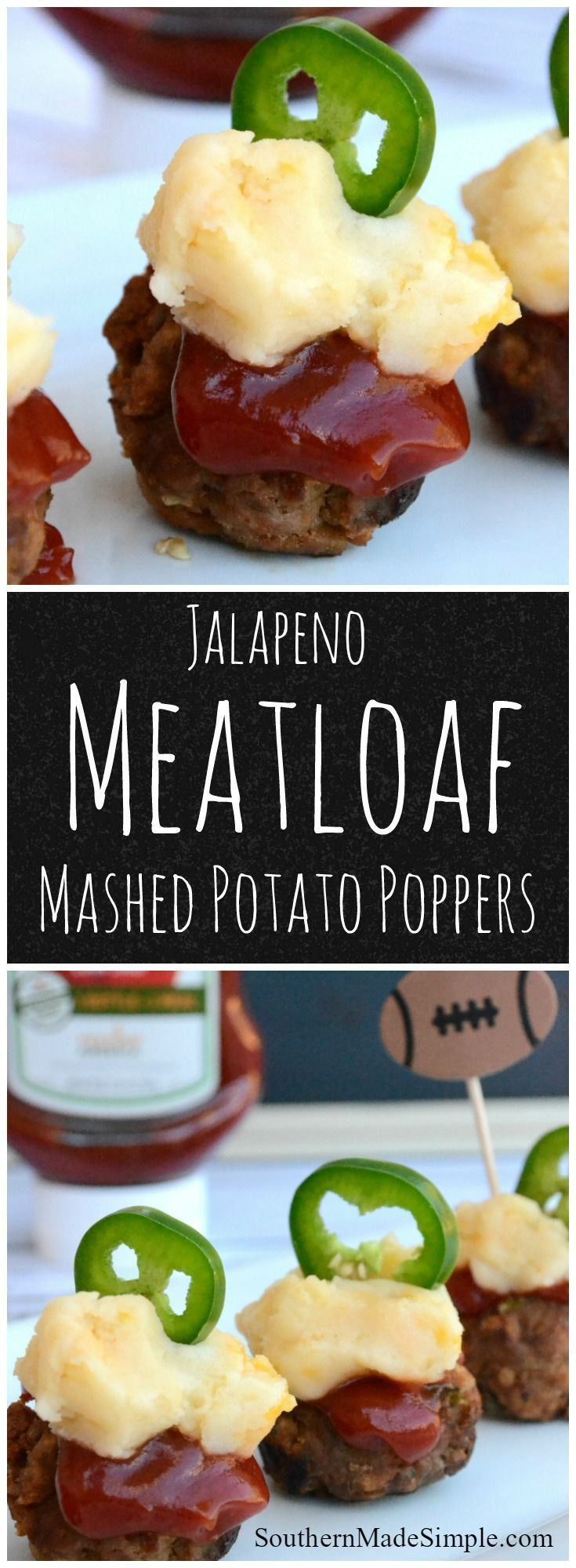 Are you getting ready for the Big Game? Try these Mini Jalapeno Meatloaf & Mashed Potato Poppers! They're sure to be the MVP on everyone's dinner plate! #KetchupWithFrenchs #ad