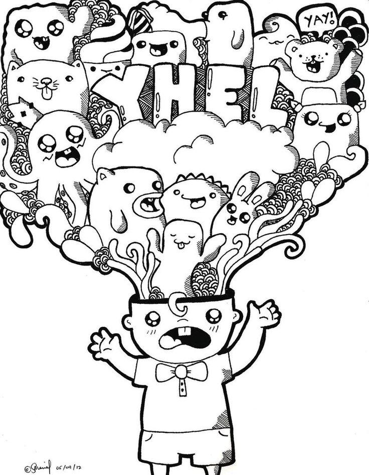 Doodle By Sarcasaaaaam D4z6nz0 788x1013 ArtArt GoogleSimple CharacterMandala ColoringColoring SheetsDoodlesCopicZentanglesMarker