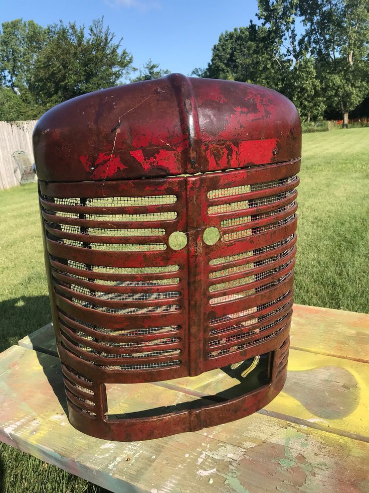 vintage farmall tractor grill hood farmhouse decor rustic on walls insulated coveralls on sale id=32225