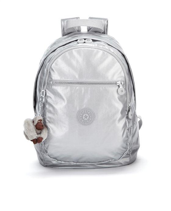 Kipling Challenger II Metallic Backpack - Silver Metallic