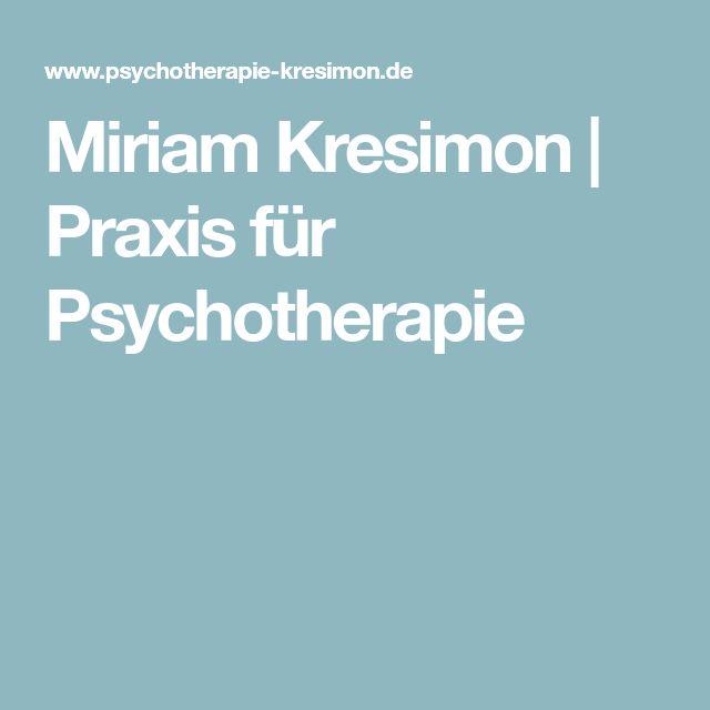 Miriam Kresimon | Praxis für Psychotherapie