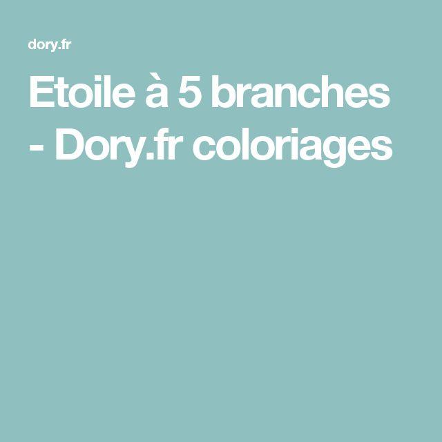 Etoile à 5 branches - Dory.fr coloriages