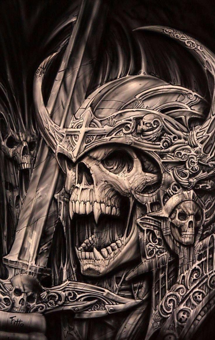 Поздравления музыкальные, картинки с черепами и скелетами
