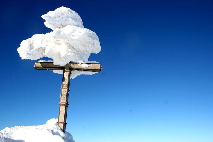 double cross on top of Dumbier, Low Tatras, #Slovakia