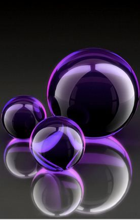 Purple Balls Wallpaper