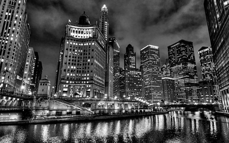 Panorama Of Milwaukee Skyline At Night In Black And White Acrylic Print By Paul Velgos