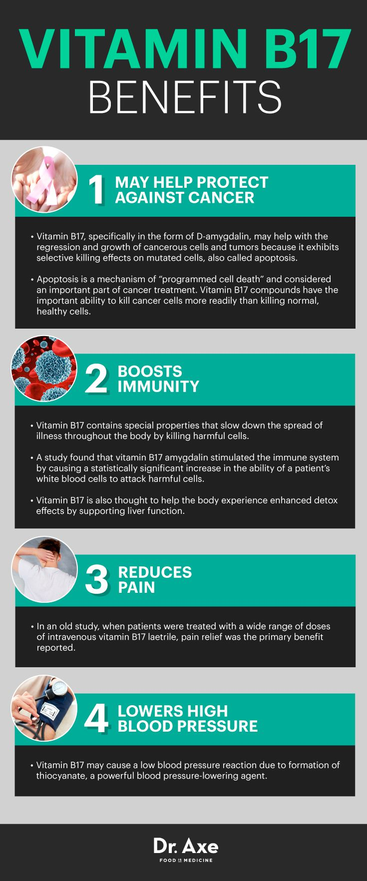 Vitamin B17 benefits  http://www.draxe.com #health #holistic #natural