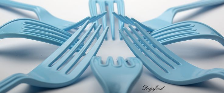 Kunst (of)  bestek. | by Digifred.  blanco y azul