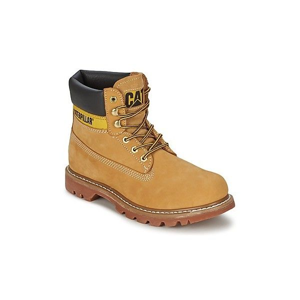 Caterpillar COLORADO Mid Boots ($85) ❤ liked on Polyvore featuring shoes, boots, beige, rubber boots, synthetic shoes, caterpillar boots, caterpillar shoes and long shoes