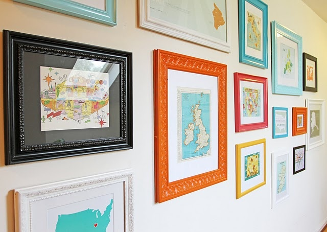 such a neat idea... must remember to start collecting maps of our favorite vacation spots.