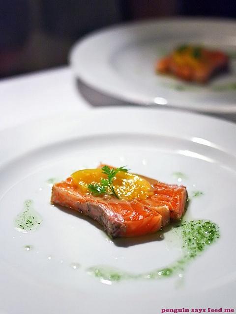 Ocean trout carpaccio from Rise Restaurant