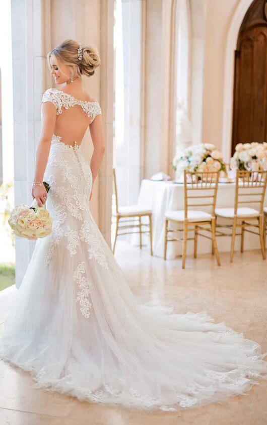 72cdeb339a Mermaid Wedding Dress with Modern Keyhole Back - Stella York Wedding ...