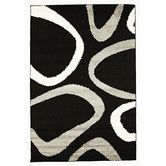 Found it at Temple & Webster - Piccolo Neo Black/Grey Shag Rug