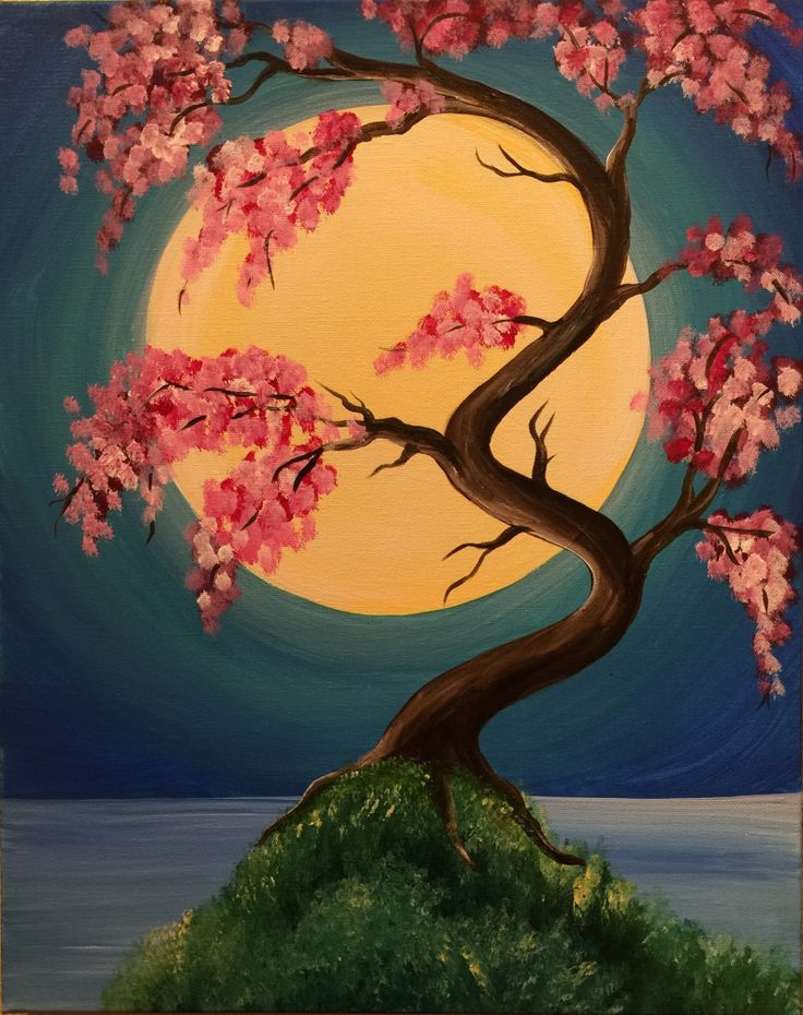 I am going to paint Japanese Spring at Pinot's Palette - South Lamar to discover my inner artist!