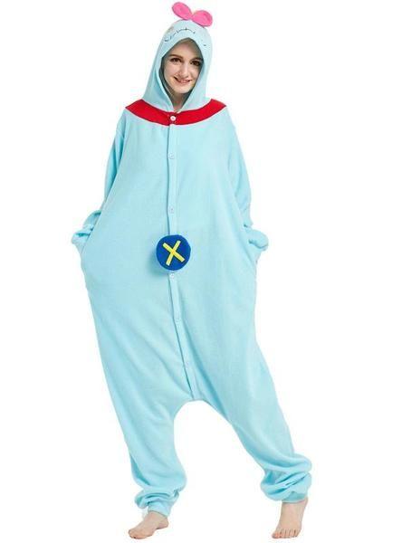 3a37e44b80 Women adult onesie scrump pajama lilo ugly puppet