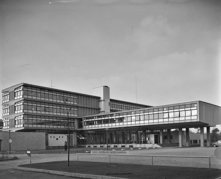 germanpostwarmodern: Radio Netherlands Worldwide (1949-56) in Hilversum, the Netherlands, by Van den Broek & Bakema