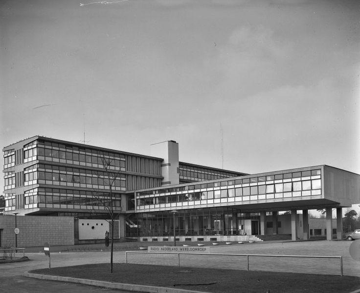 germanpostwarmodern: Radio Netherlands Worldwide (1949-56) in Hilversum, the Netherlands, by Van den Broek & Bakema