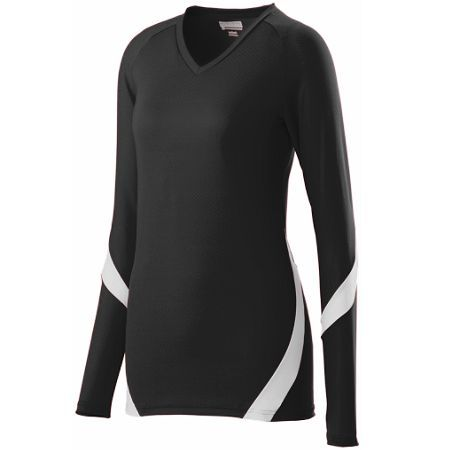 Black and white Style 1325 Ladies dig jersey. Great for volleyball. Customize with your team's logo at Unitedteamsports.com